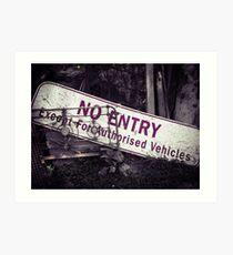 No Entry Sign Art Print