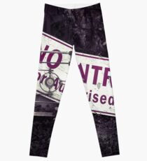 No Entry Sign Leggings