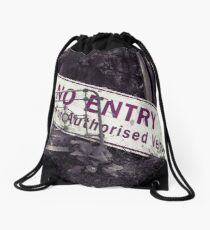 No Entry Sign Drawstring Bag