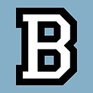 Letter B two-color White by theshirtshops