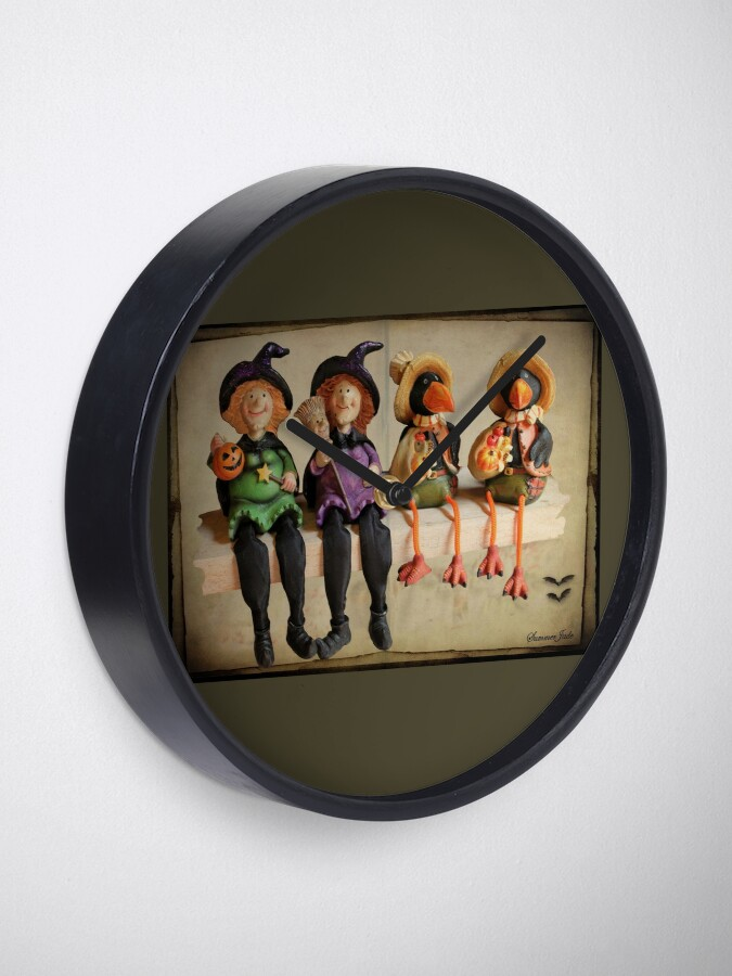 Alternate view of Tell Us A Happy Halloween Story! Clock