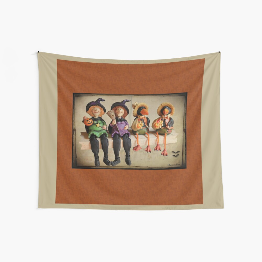 Tell Us A Happy Halloween Story! Wall Tapestry