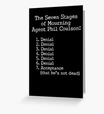 Mourning Agent Coulson Greeting Card