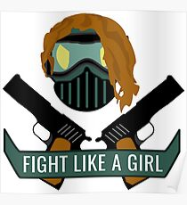 Tactical/Airsoft- Fight Like A Girl Poster
