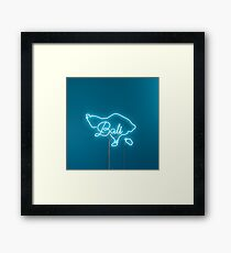 Bali Neon Signs Framed Print