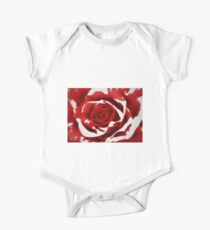 Painted Red Rose One Piece - Short Sleeve
