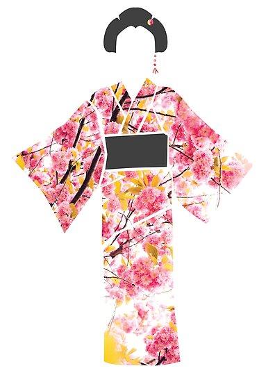 KIMONO in cherry blossom by jazzydevil