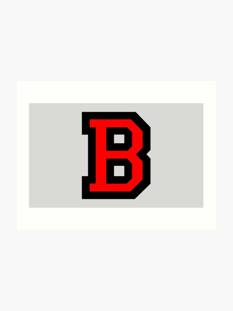"Letter B Two Color Red"" Art Print By Theshirtshops 