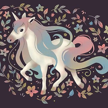 Unicorn and Flowers by katiecrumpton