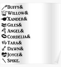 Buffy Names Poster