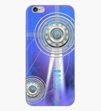 Blue Clock Metal | Digital Art | Graphic Design iPhone Case