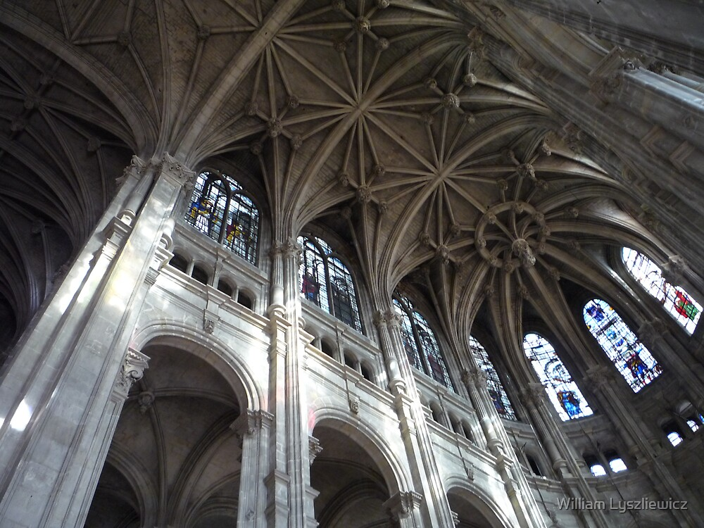 église St Eustache. Paris by william lyszliewicz