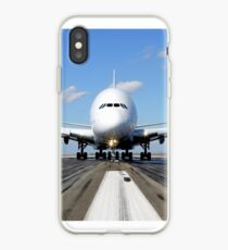 Airbus A380 Plane on the Runway iPhone Case