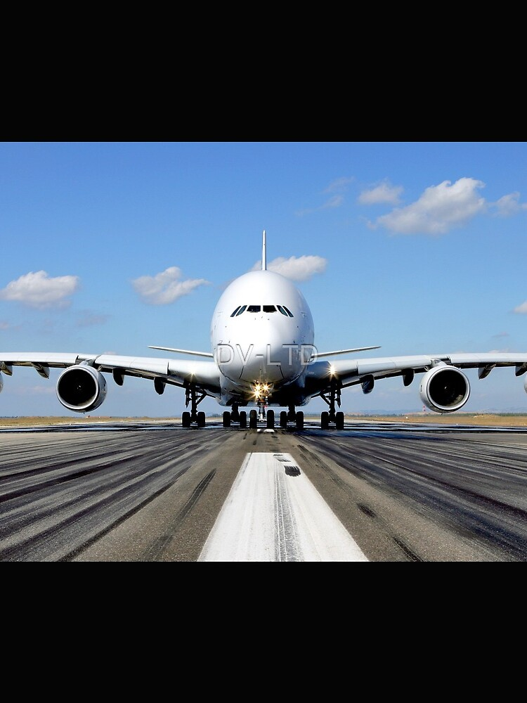 Airbus A380 Plane on the Runway by DV-LTD