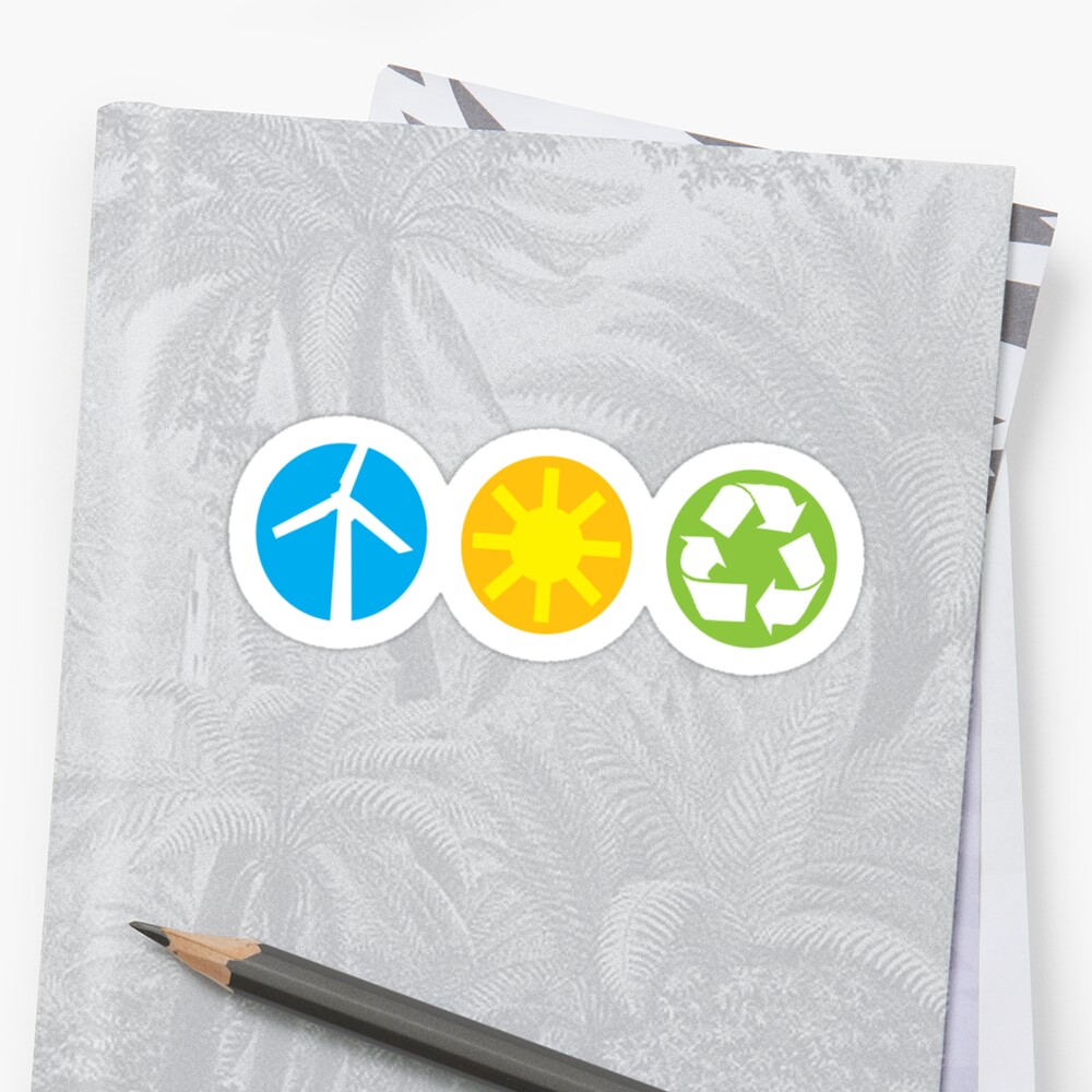 Wind Solar Recycle by KCGraphics
