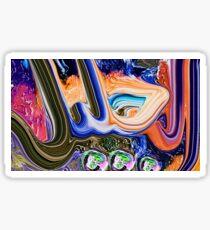Al Jaleel Allah Name Painting Sticker
