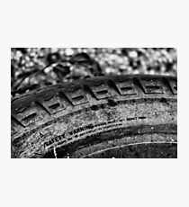 Car tyre Photographic Print