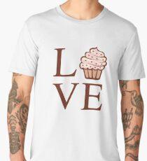 Fun Cute Love Cupcake  Men's Premium T-Shirt