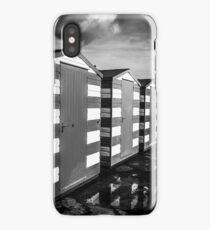 Beach huts on the seafront iPhone Case/Skin