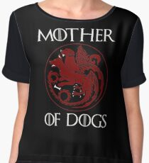 Mother of Dogs - Dog lover Women's Chiffon Top