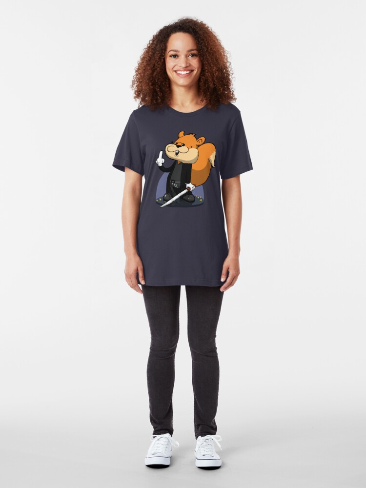 Alternate view of Slow motion squirrel Slim Fit T-Shirt