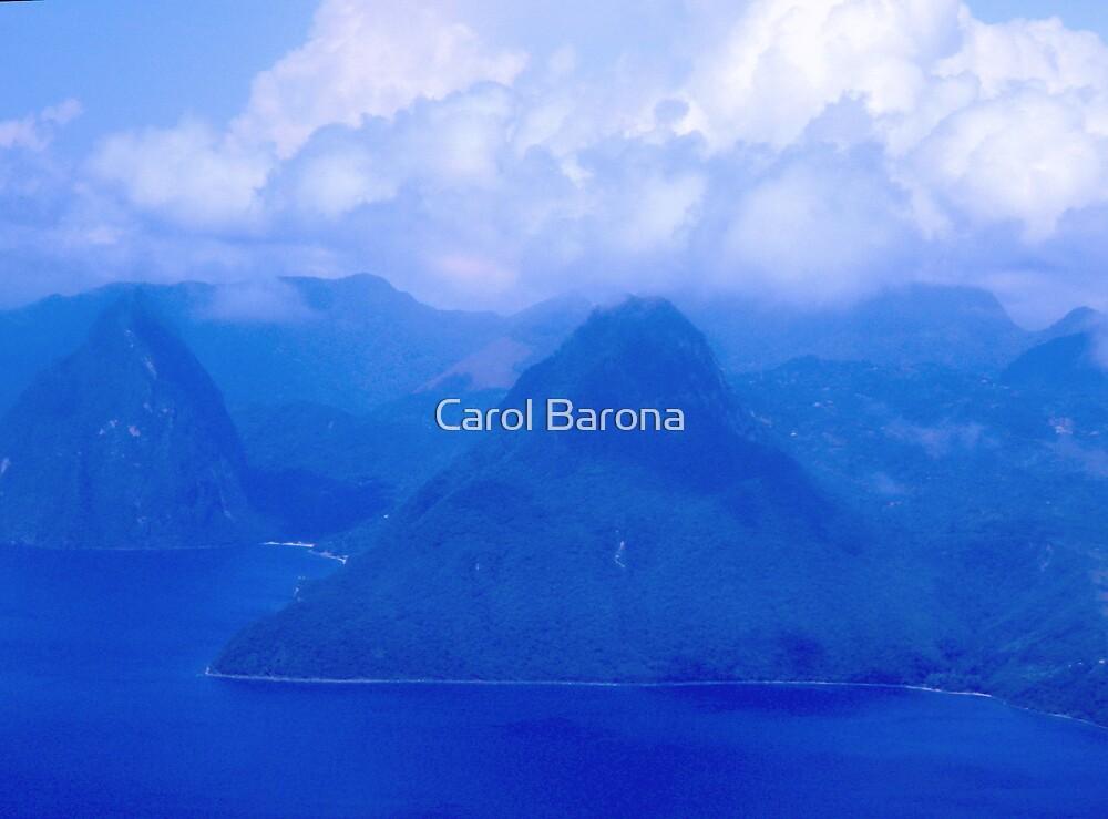 The Pitons by Carol Barona