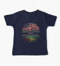 American Grown with Guyanese Roots Baby Tee