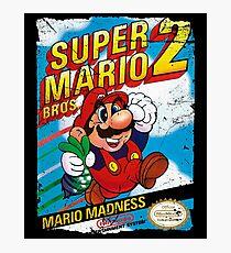 SUPER MARIO BROS 2 NES COVER Photographic Print
