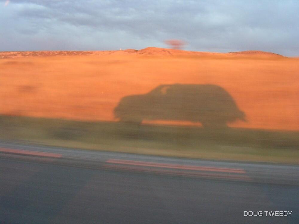 Shadow on Red Rock by DOUG TWEEDY