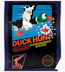 DUCK HUNT NES COVER Poster