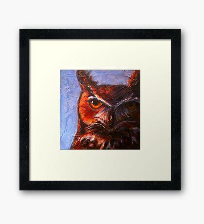 Wisdom: Great Horned Owl Framed Print
