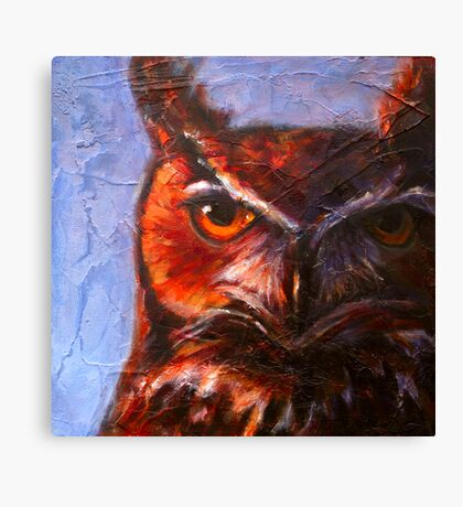 Wisdom: Great Horned Owl Canvas Print
