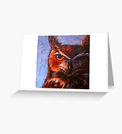 Wisdom: Great Horned Owl Greeting Card