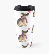 Watercolour German Shepherd Travel Mug
