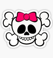 grl skull funny Sticker