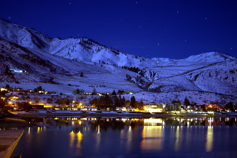 BEAUTIFUL LAKE CHELAN AT NIGHT  by MsLiz