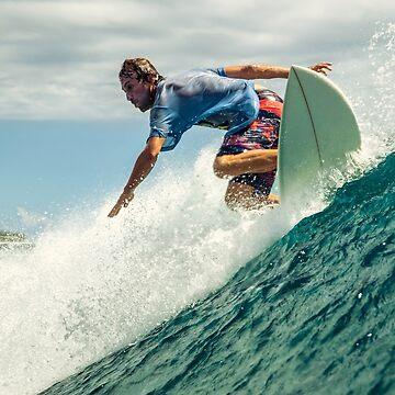 Surfer Guy riding a wave by DV-LTD
