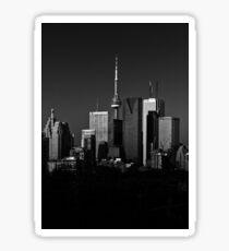 Toronto Skyline From Riverdale Park No 1 Sticker