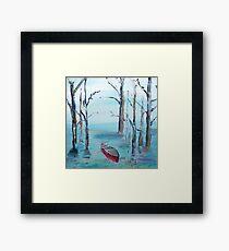 Red Canoe (Canada) Framed Print