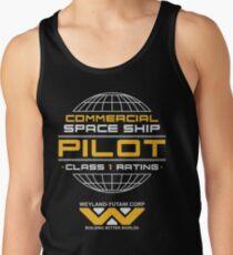 Aliens Weyland Yutani Space Ship Pilot Tank Top