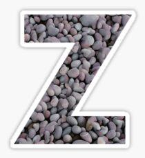 Z - Pebble Sticker