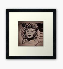 INK PEN PORTRAIT OF LUCILLE BALL Framed Print