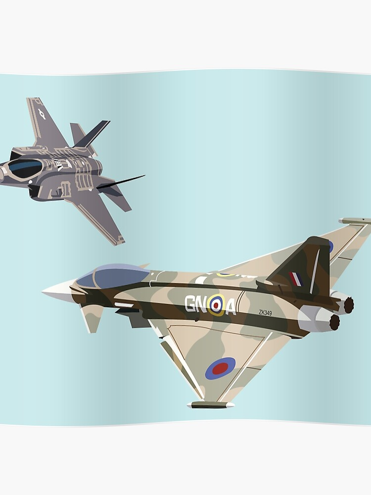 F-35 and Eurofighter Typhoon | Poster