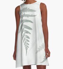 Fern Leaf A-Line Dress