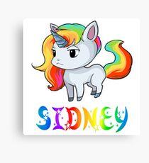 Sidney Unicorn Sticker Canvas Print