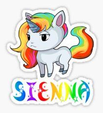 Sienna Unicorn Sticker Sticker