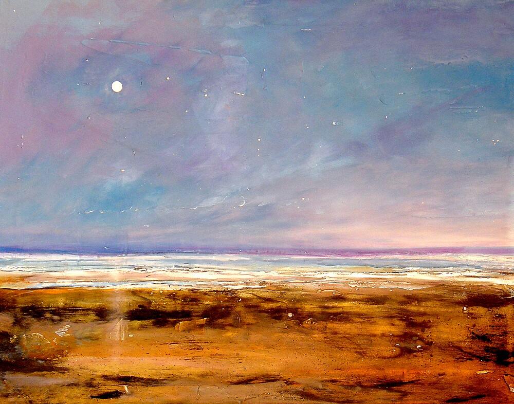 """Solitude"" Beach Ocean Print by ToniGrote"