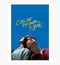 call me by your name poster Photographic Print