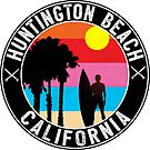 Surfing HUNTINGTON BEACH CALIFORNIA Surf Surfer Surfboard Waves Ocean 2 by MyHandmadeSigns