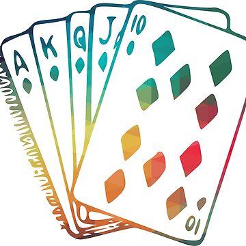 Rainbow royal flush cards  by AdiDsgn